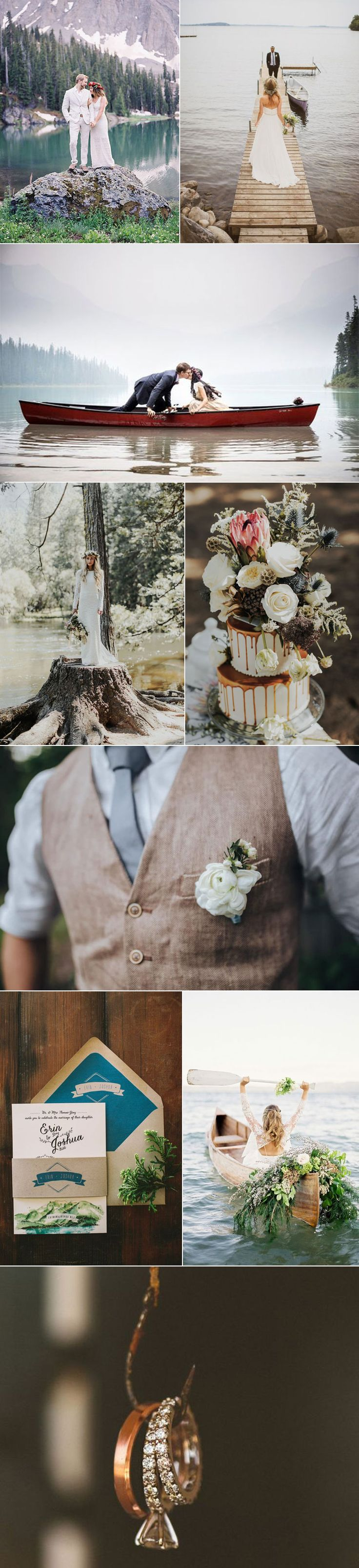 Tap into your wanderlust and embrace the all-encompassing beauty of an outdoor lake wedding.