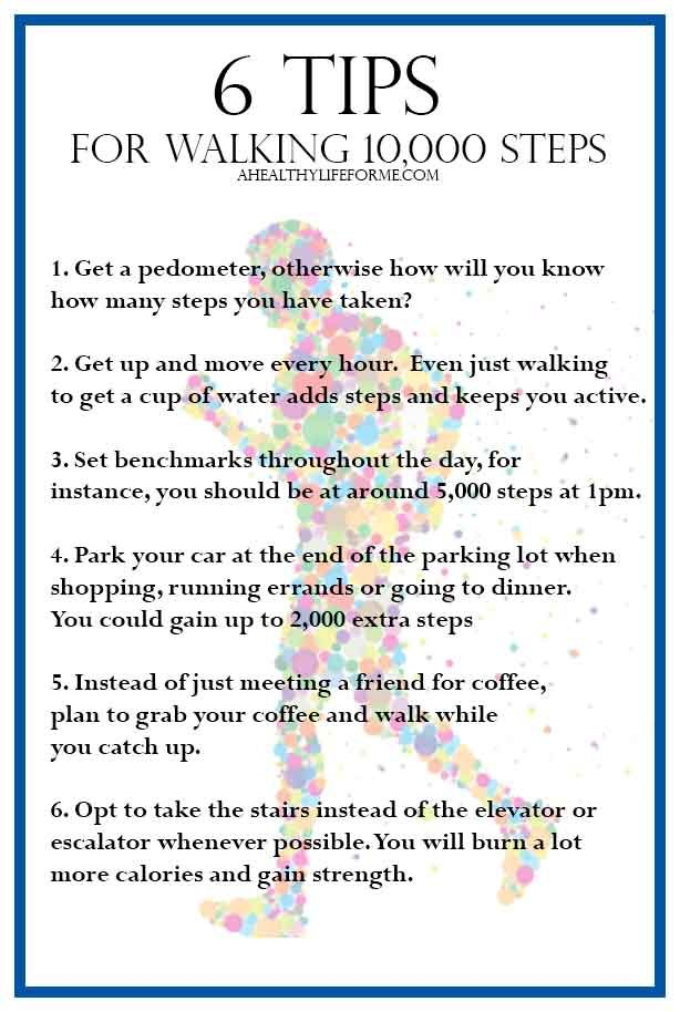 6 Tips to Walking 10,000 Steps Everyday   ahealthylifeforme.com