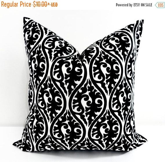 On Sale Black Pillow cover. Black Throw by TwistedBobbinDesigns