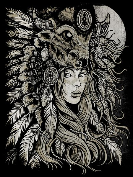 Spirit of the Buffalo Art Print by Derrick Castle