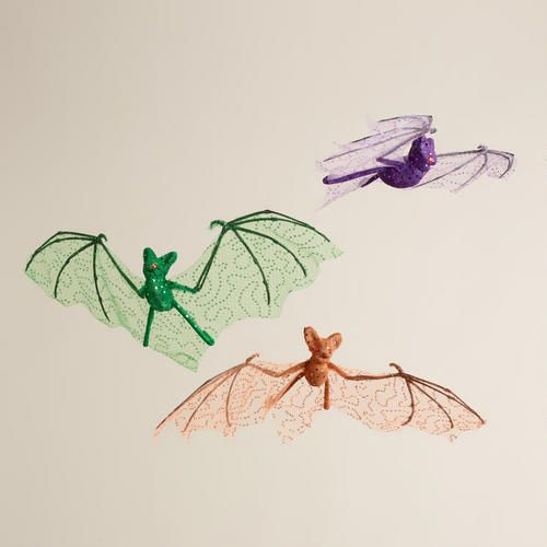 One of my favorite discoveries at WorldMarket.com: Hanging Fabric Bats, Set of 3