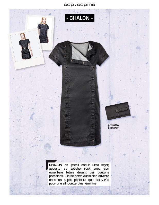 -Get dressed! #4- une touche de rock avec le lyocell enduit de la robe CHALON