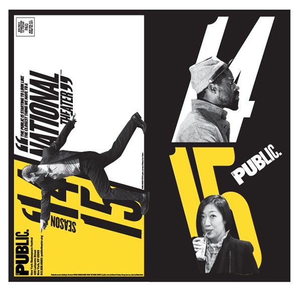 Paula Scher returns to NYC's Public Theater graphics with new campaign