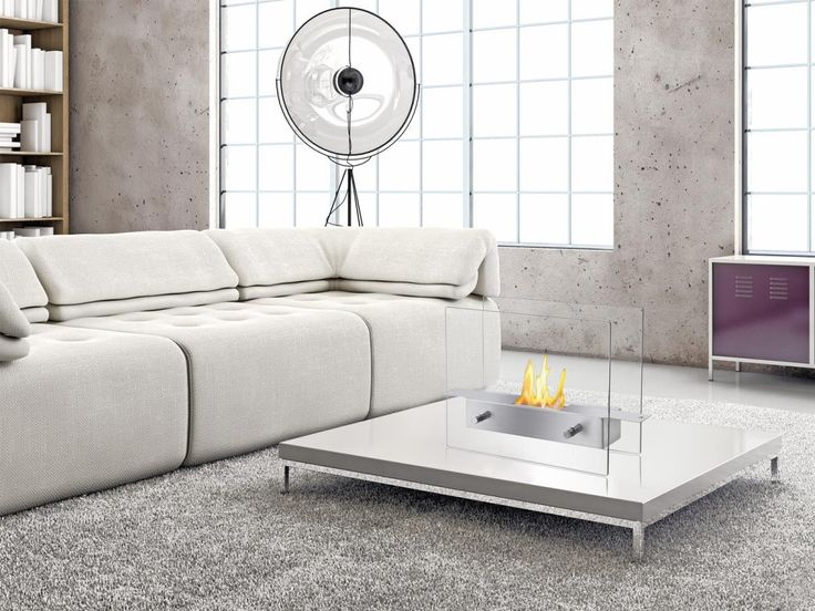 Combining heating functionality with an ultramodern design, the Ignis TTF-021 Tab Tabletop Ventless Ethanol Fireplace is available for a great deal on air-n-water.com.