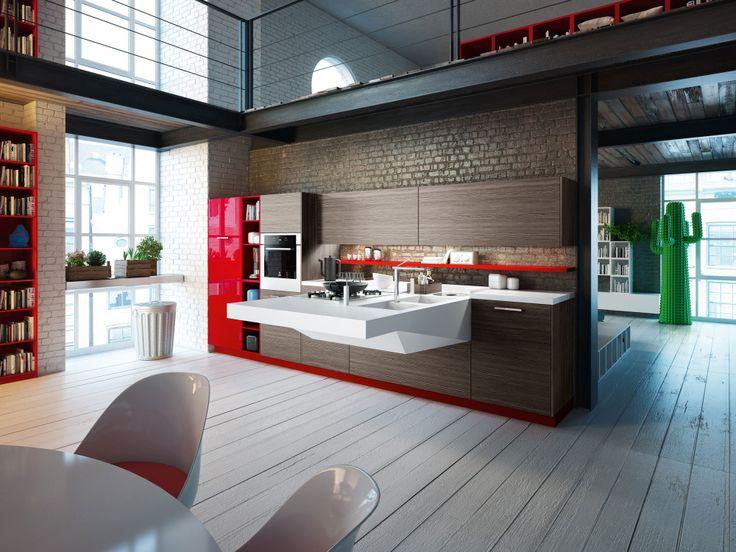 Board di Snaidero è la risposta industriale ad un'evoluzione dell'edilizia abitativa contemporanea, sempre più orientata ad ambienti piccoli e condivisi.