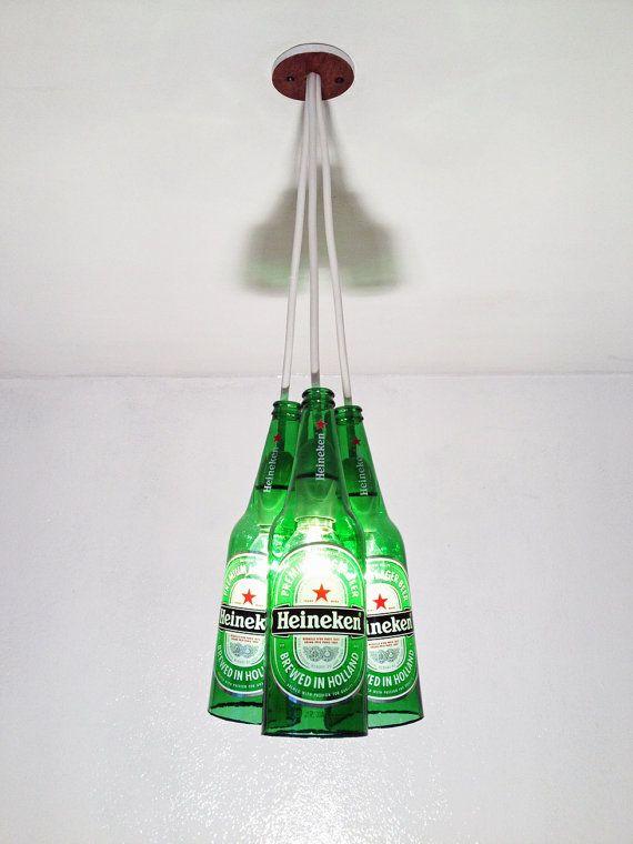 Bespoke Heineken Beer Bottle Lights Bar Home by UniquesTR, £50.00