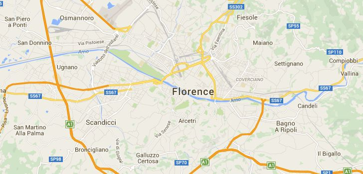 TaxiFareFinder - € 25,54 taxi fare from Florence Airport, Peretola, Florence, Metropolitan City of Florence, Italy to B&b Guelfi e Ghibellini, Florence, Metropolitan City of Florence, Italy using Florence, Italy taxi rates