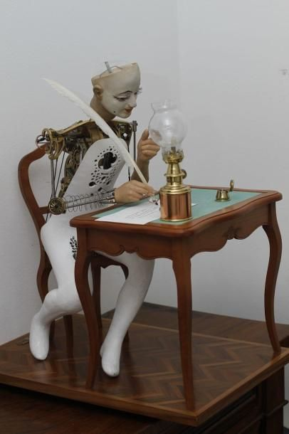 Pierrot écrivain - Unique Automaton Description: Unique Automaton -Pierrot écrivain- squelette by André Soriano This fantastic piece was made for the Musée National de Monaco by the famous clockmaker… - Dreamfactory - 20/06/2015