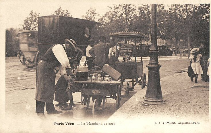 Les petits métiers du Paris d'antan La marchande de coco...