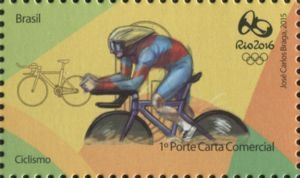 Sello: Cycling (Brasil) (Rio 2016 Olympic and Paralympic Games Series) Mi:BR 4205,WAD:BR019.15,RHM:BR C-3434