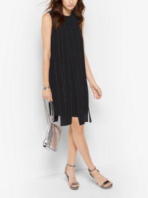 MICHAEL MICHAEL KORS Studded Slashed Dress. #michaelmichaelkors #cloth #