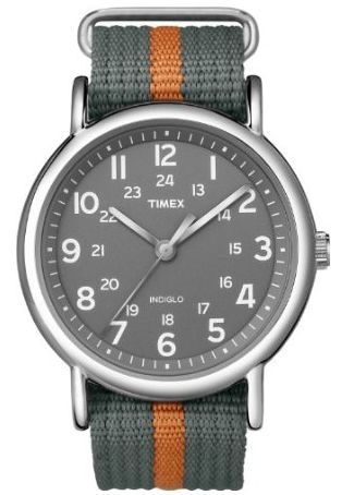 Timex Military Watch. Love the striped band. Only $33. Order it today and get it tomorrow. Click through for 9 other great gift ideas for Dad! #fathersdaygift