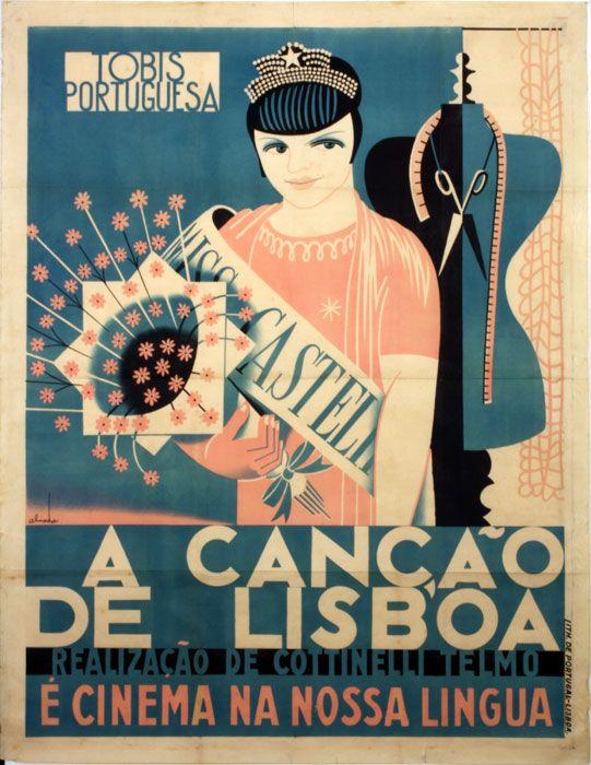 cartaz «A Canção de Lisboa»