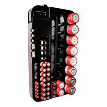 72 batterij caddy opbergkoffer doos hard plastic houder slot organisator rack verwijderbare tester aaa(China (Mainland))