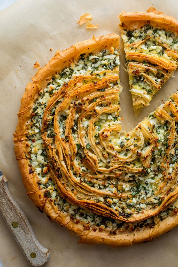 "Kathy Tsaples, the author of the cookbook ""Sweet Greek Life: My Shared Table,"" inspired this savory tart The quality of phyllo dough varies hugely from one brand to another It's particularly important here to get a good-quality phyllo as there is so much of it"