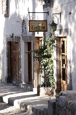El Cactus Restaurant, Real De Catore, San Luis Potosi - beautiful rustic building the doors and stone are an excellent dream home idea