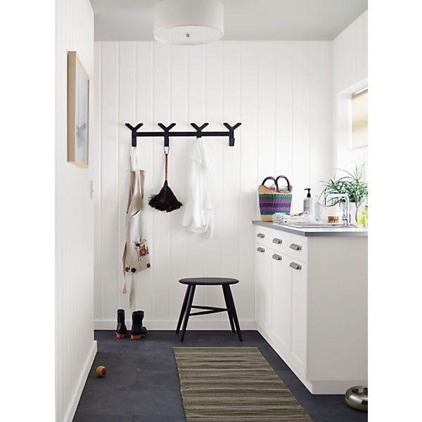 Crew Modern Wall Hook in Natural Steel - Modern Coat Racks & Wall Hooks - Modern Home Accessories - Room & Board