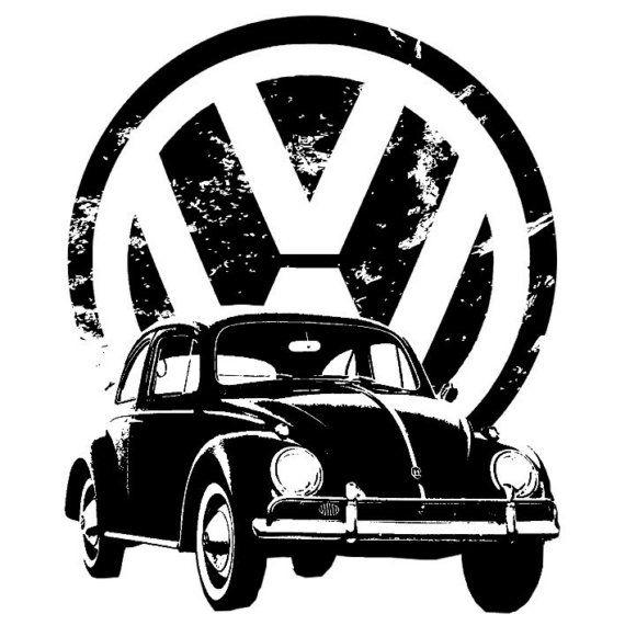 Volkswagen Beetle TShirt Organic American Apparel by elementalshop