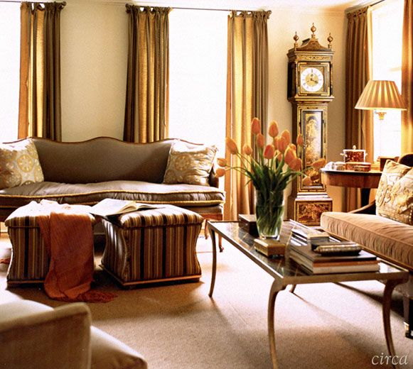 A Traditional Room Without Too Much Fuss Decorated In Tones Of Bronze Copper Peach And Gold