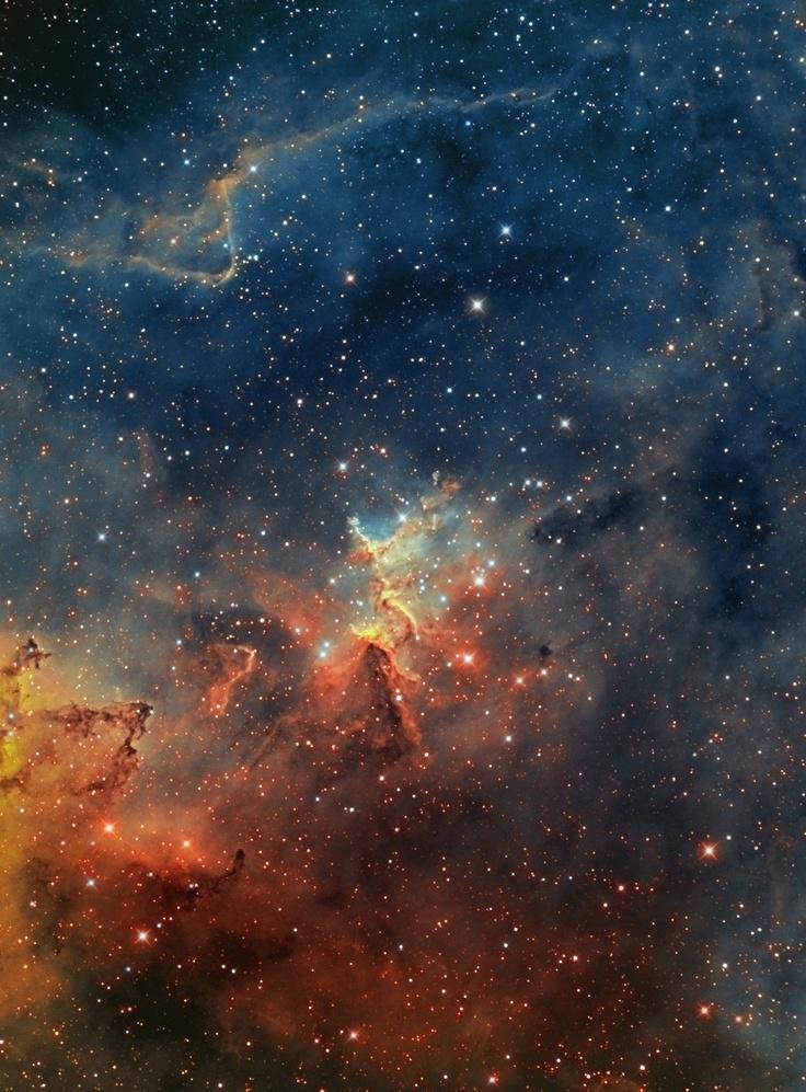 Melotte 15 - IC1805 - Open Cluster & #Nebula in Cassiopea - #Hubble Palette. #space