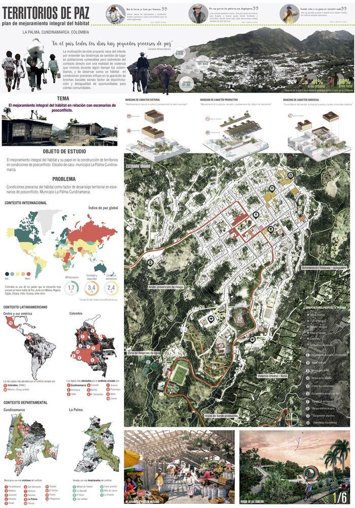 Los 12 mejores proyectos arquitectónicos de fin de carrera en Colombia,Territorios de Paz: plan de mejoramiento integral del hábitat. Image © Esteban Quiñones Bustos