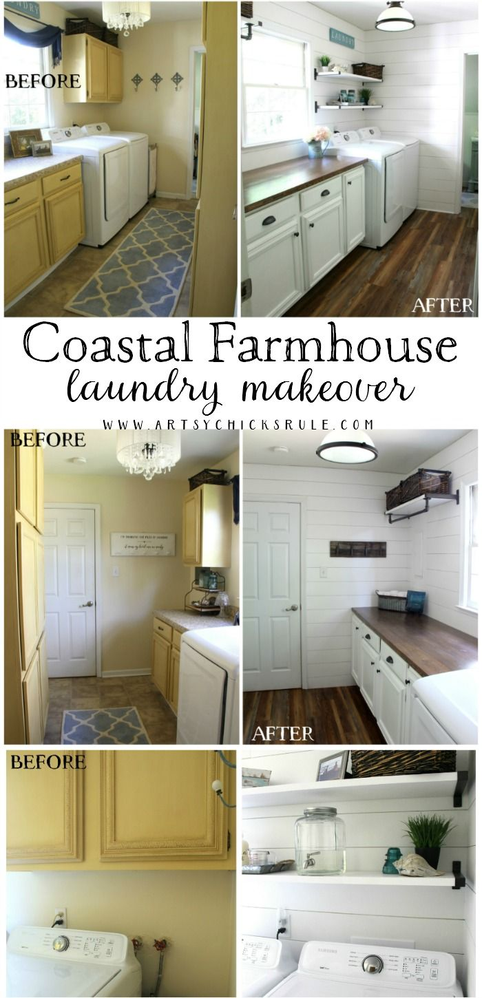 Coastal Farmhouse Laundry All The Details Sources