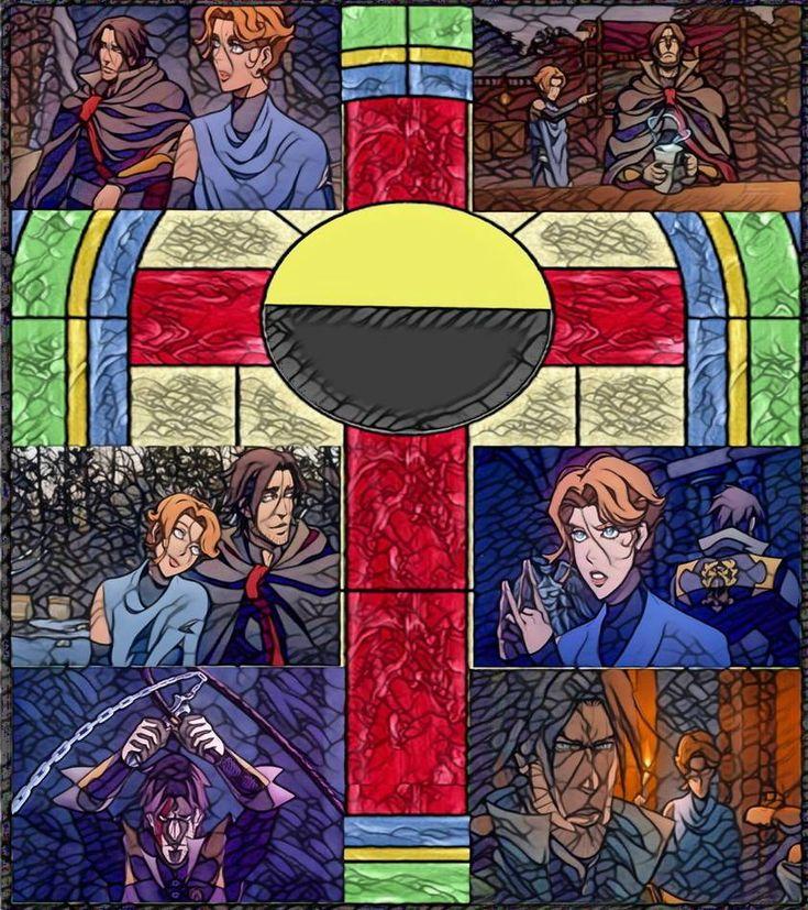 Castlevania Season 3 Trevor and Sypha Art Nouveau by https