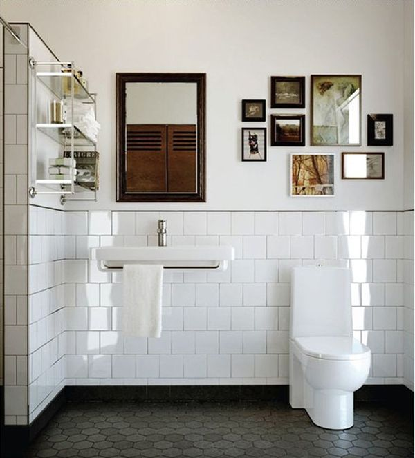 Nice arrangement of photos, and we love the subway tile!  www.nonns.com