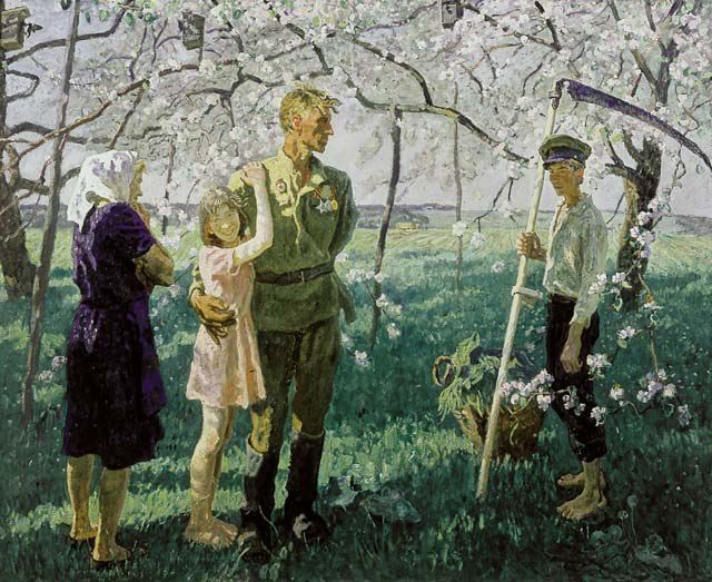 """May 1945"" by Tkachev brothers. A soldier came back to his family."