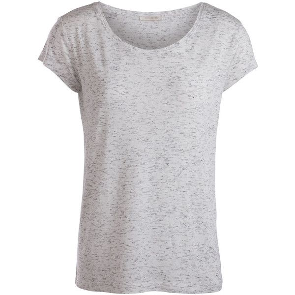 PIECES Plain T-Shirt ($20) ❤ liked on Polyvore featuring tops, t-shirts, shirts, whitecap gray, t shirts, grey t shirt, grey shirt, gray top and grey tee