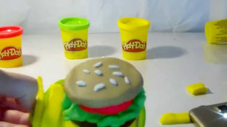 Playdoh burger and fries | play doh videos for children | eggs surprise ...