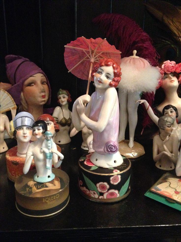 Deco half dolls