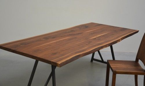 Tischfabrik24.de Nussbaum Esstisch Piper  Kante geht auch gerade!