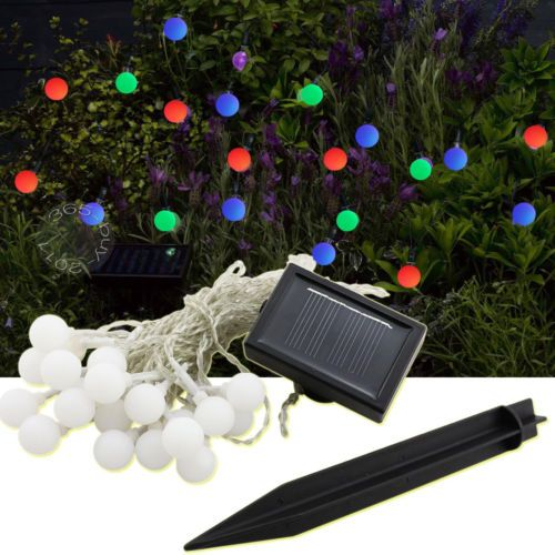 25 best solar light must haves images on pinterest outdoor gardens new solar power string fairy light xmas party decor 20 led ball christmas lights ebay mozeypictures Choice Image