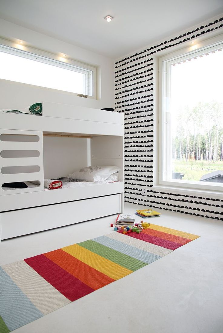 just the right amount of color and pattern #littleroom