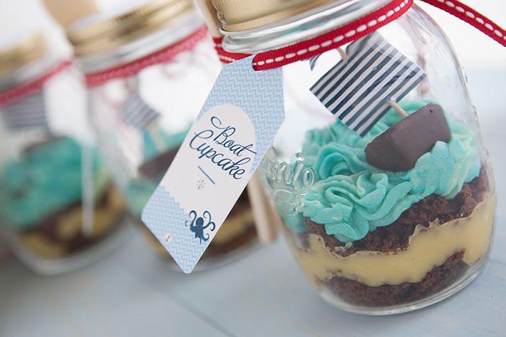 """Imprimibles para hacer barquitos y etiquetas """"Boat Cupcake"""". Delicadeza en estado puro. Incluye receta >> Little boats and """"Boat cupcake"""" tags free printables with recipe included. So sweet."""