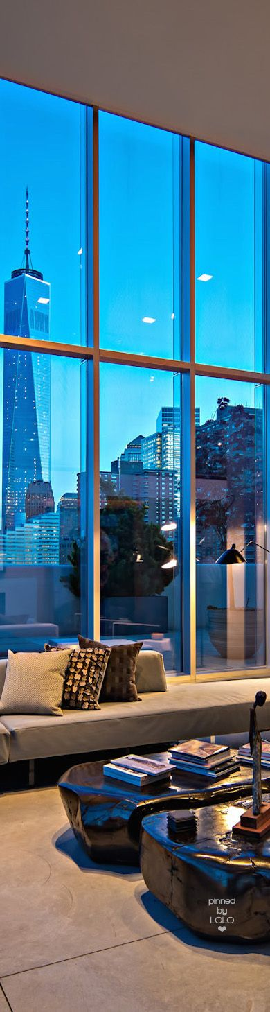 NYC Penthouse with a view of the World Trade Center building | House of Beccaria#