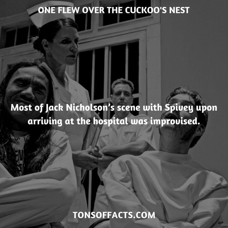 Most of Jack Nicholson's scene with Spivey upon arriving at the hospital was improvised. #oneflewoverthecuckoosnest #movies #interesting #facts #fact #trivia #awesome #amazing #1 #memes #moviefacts #movietrivia #oneflewoverthecuckoosnestfacts #oneflewoverthecuckoosnesttrivia