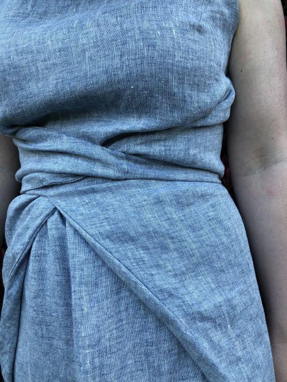 Named Patterns: Kielo Wrap Dress in Linen (poppykettle)