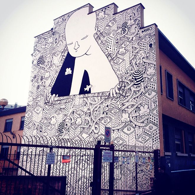 Millo - Street art, Mural #06 for Bart - Torino