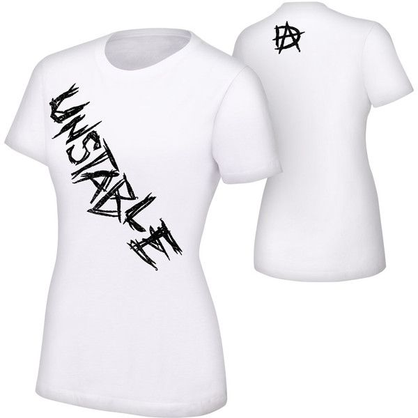 """Dean Ambrose """"Unstable"""" Women's Authentic T-Shirt ❤ liked on Polyvore featuring tops, t-shirts, wwe, wrestling, dean ambrose, shirts, cotton t shirt, classic fit t shirts, t shirts and cotton tee"""