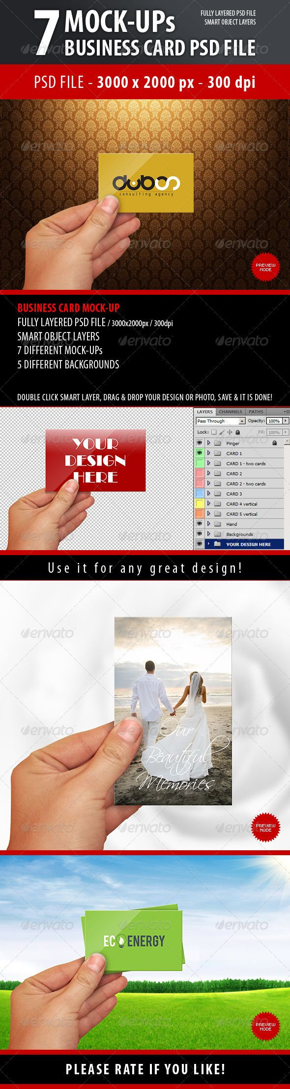 717 best images about Business Card Mockup on Pinterest