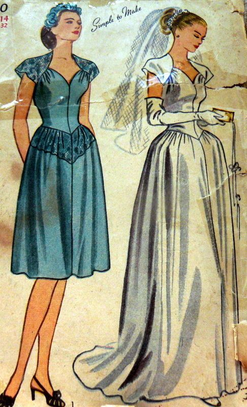 207 best 1940 39 s style wedding images on pinterest for 1940s wedding dress patterns