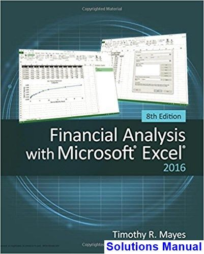 25 best solutions manual download images on pinterest calculus solutions manual for financial analysis with microsoft excel 2016 8th edition by mayes ibsn 9781337298049 fandeluxe Choice Image