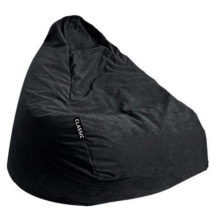 Classic Bean Bag Cover Black $40 velvet needs 200L beans