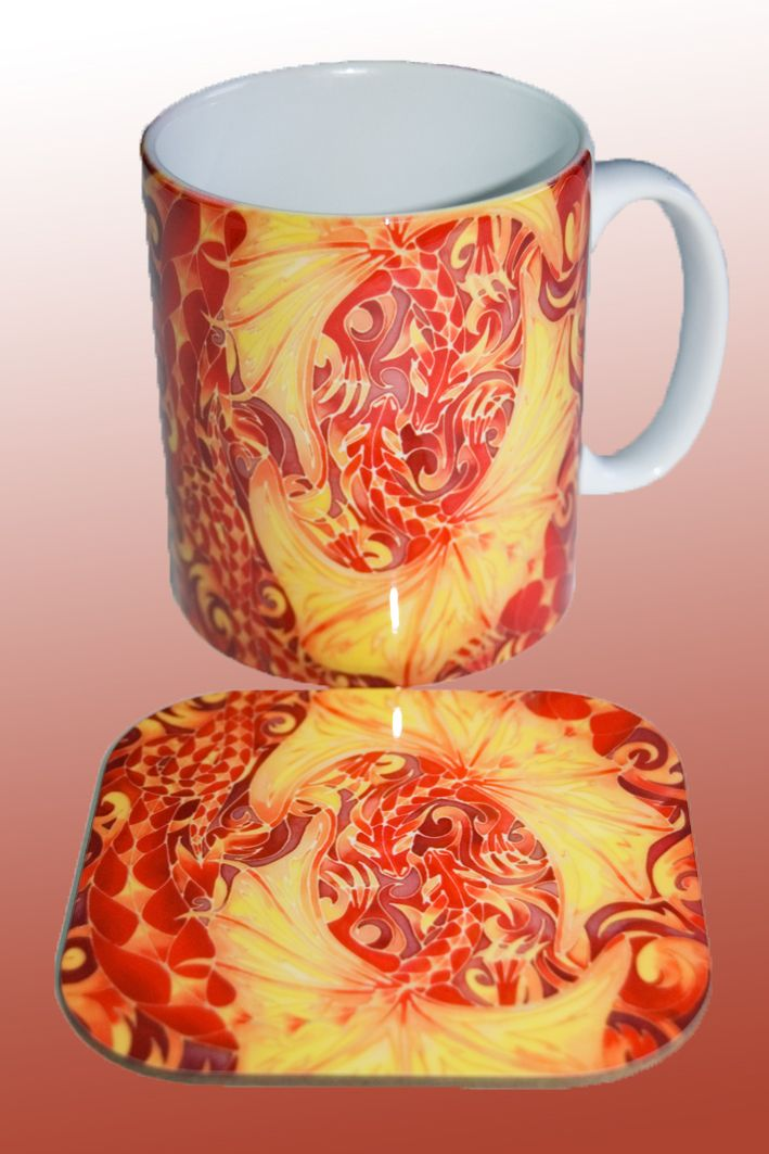 love dragons mug and coaster www.meikiedesigns.com/mugs.html