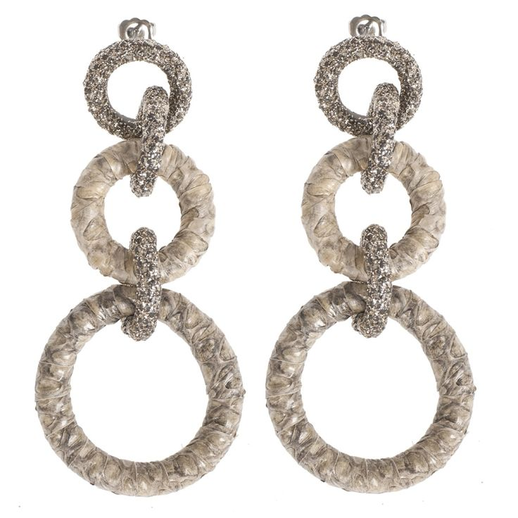 KMO PARIS / CAMOsas Ohrringe mit Steckverschluss Natur/Gold
