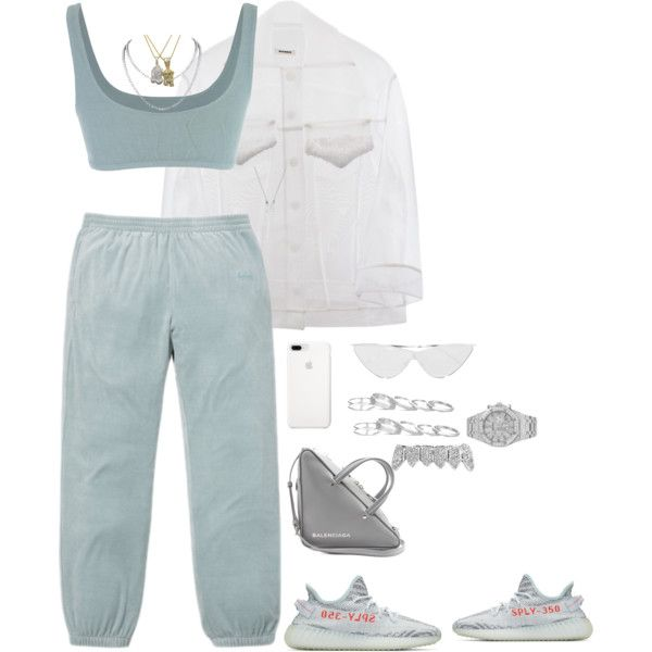 Untitled #4539 by mollface on Polyvore featuring polyvore, fashion, style, Yeezy by Kanye West, Balenciaga, Audemars Piguet, Kendra Scott, Le Specs, Roial and clothing
