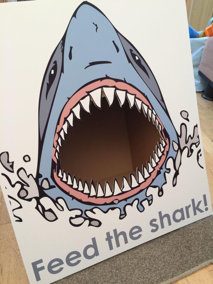 Shark bean bag game for Merryn's Under The Sea / Ariel / Mermaid 5th birthday party