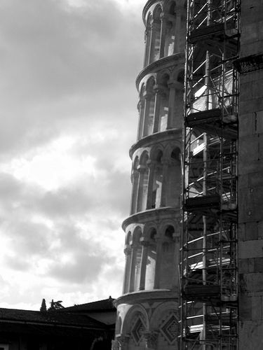 Metal and marble - Tower of Pisa